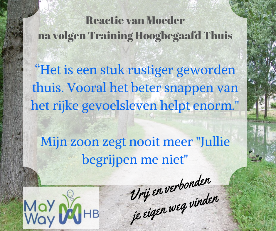 training hoogbegaafd thuis ouders